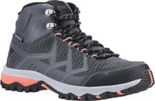 Cotswold Wychwood Mid Ladies Hiking Boots Grey / Coral